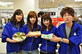 明石の特産品フェアで学生が企画した商品を販売のサムネイル