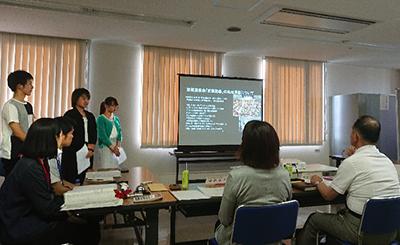 和太鼓部がプレゼンテーション  大学・西区連携まちづくり活動助成審査会のサムネイル