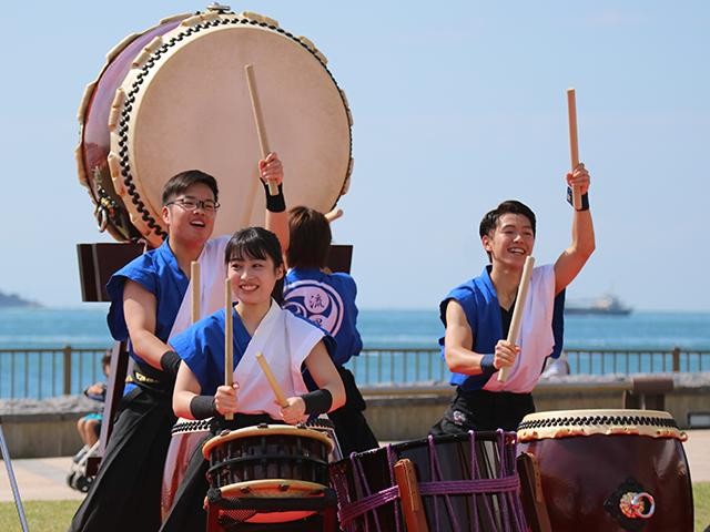 和太鼓部・吹奏楽団の外部演奏 地域のイベントに参加しましたのサムネイル