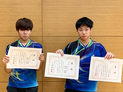 卓球部 米本駿也さん(人社1年) 会長杯争奪卓球大会で2冠達成のサムネイル