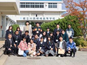 本学留学生が、高校の『校内留学体験』で国際交流!