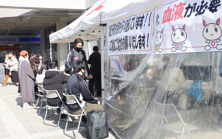『学内献血』に日本赤十字社からもお礼のメッセージ。ご協力ありがとうございました!のサムネイル