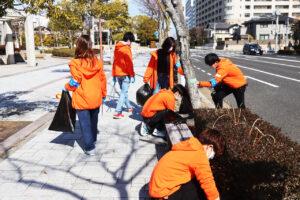 社会イベント隊ランニングボランティア部が大学周辺の清掃活動を実施