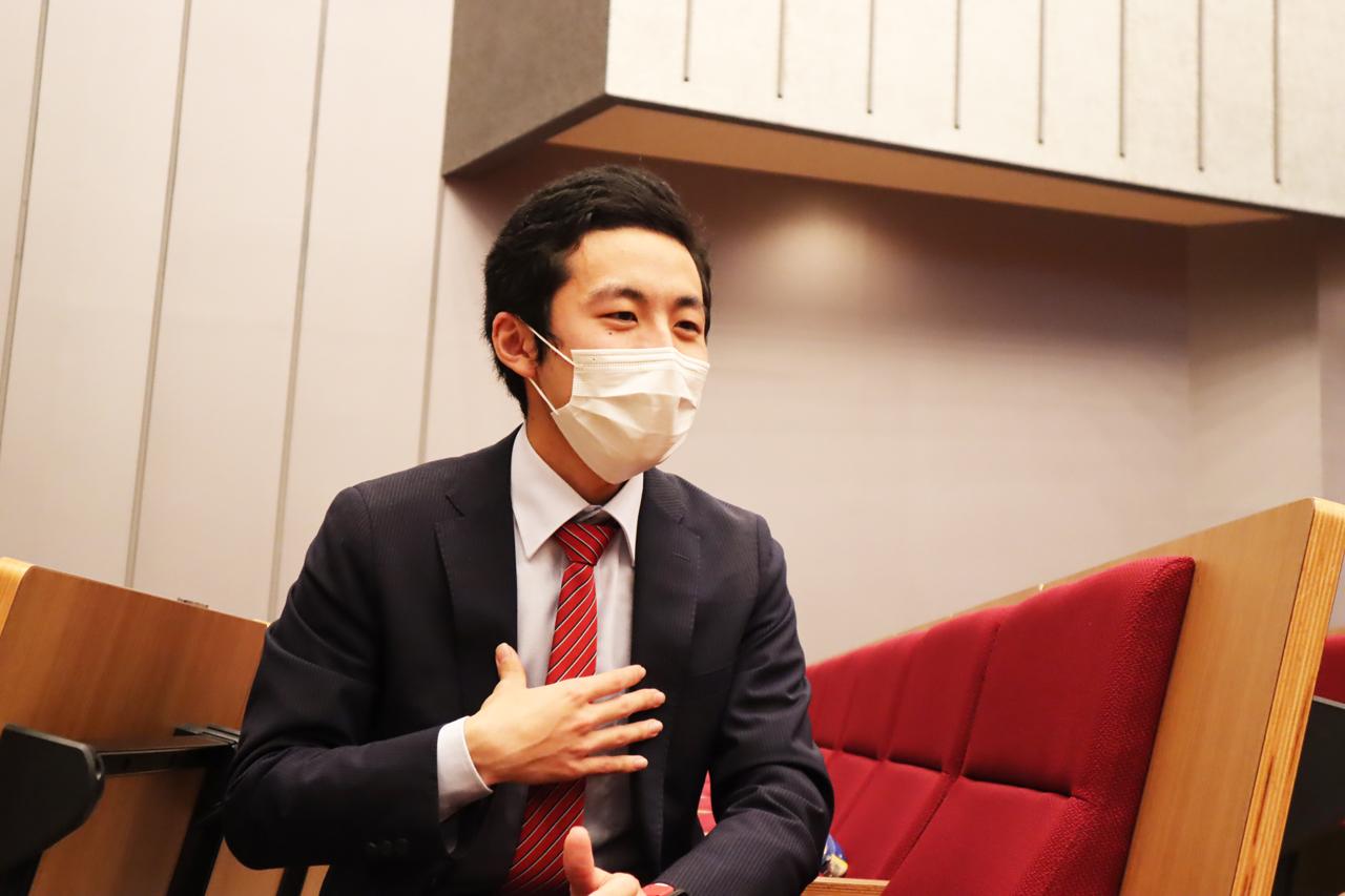 清水健吾さん(商学部経営学科3年)
